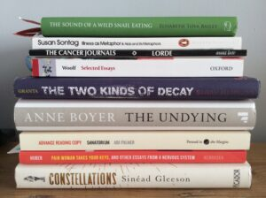 A pile of books about chronic illness by women